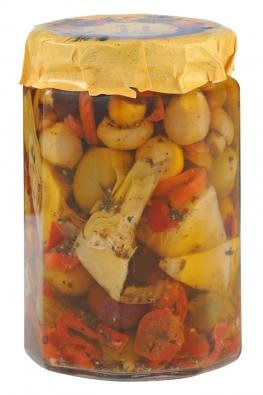Antipasto principe in olio di oliva